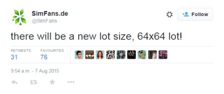 64x64 Lots Sizes Confirmed